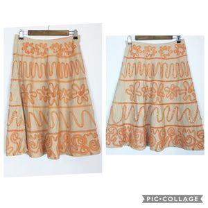 Anthropology | Basil & Maude Size 4 Sequin Skirt